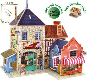 Mô hình nhà gỗ DIY - 3D Jigsaw Puzzle Wooden Toys HPM6132