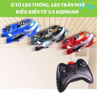 Ô tô đồ chơi leo tường điều khiển từ xa kiểu dáng xe đua KIDNOAM (đỏ)