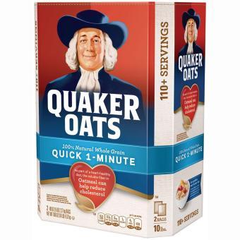 Yến mạch Quaker Oats 4,52kg nguyên chất 100% loại Quick 1 Minute (cán vỡ).