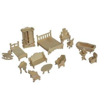 Bộ đồ chơi ghép gỗ cho bé gái 184 chi tiết