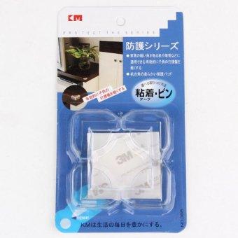 Bộ 4 Miếng Nhựa Dẻo Bịt Góc Bàn Trong Suốt KM 365