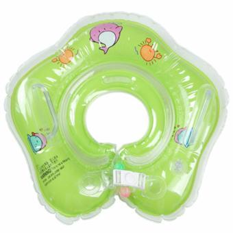 Phao tập bơi nâng cổ cho bé màu xanh lá