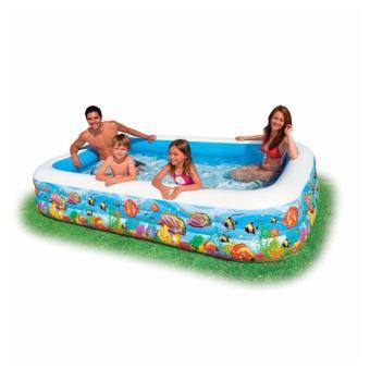 Bể bơi gia đình vuông cá 305x183x56 model 58485 tặng bơm điện