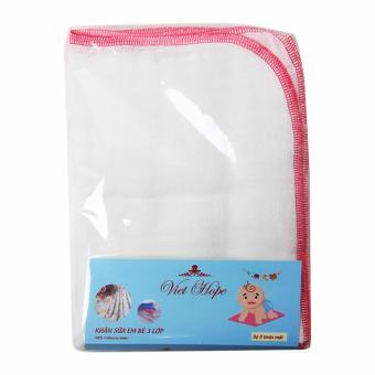 Khăn sữa trẻ em 3 lớp 28x38cm bộ 8 KS -22