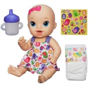 Em bé uống sữa Baby Alive (Áo hoa) A9291/A9290