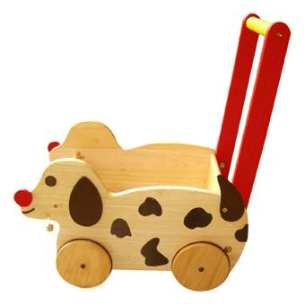 Xe chó chở đồ chơi bằng gỗ Winwintoys 62012K