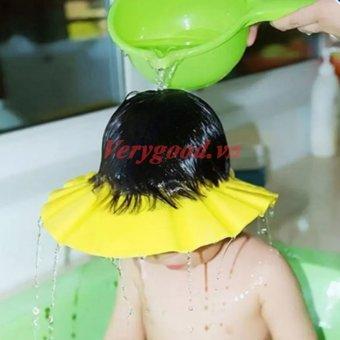Mũ gội đầu tắm an toàn cho bé chỉnh 4 cỡ HQ206111-1 (Vàng)