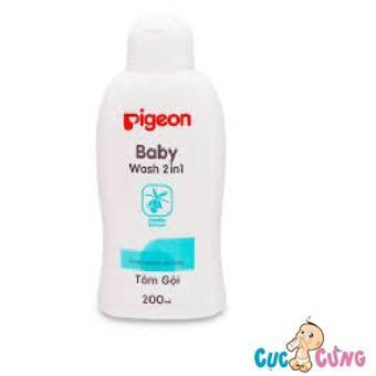 Sữa tắm gội Pigeon jojoba - Màu xanh 200ml(Xanh dương nhạt)