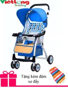 Xe nôi đẩy trẻ em baobaohao 722A (Xanh dương) + Tặng kèm đệm xe đẩy