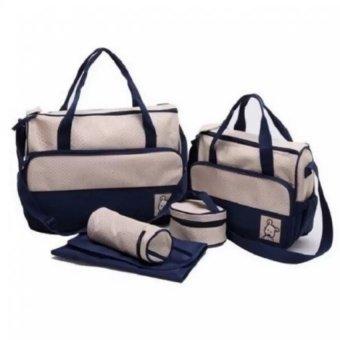Bộ túi đựng đồ cho mẹ và bé 5 chi tiết BL00170 (Xanh Tím Than)
