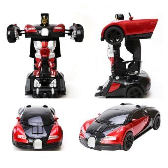 Đồ chơi siêu xe ô tô biến hình thành Robot, có nhạc
