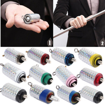 HOT Appearing Magic Cane Metal Silver Tricks Close Up Illusion Silk To Wand Silver - Intl