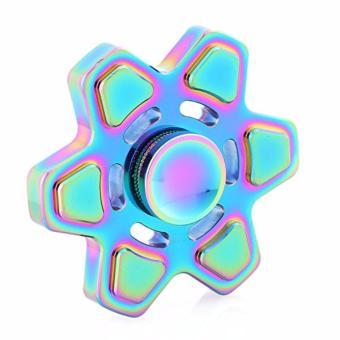 Con quay giảm stress 6 cánh cao cấp Rainbow Fidget Hand Spinner