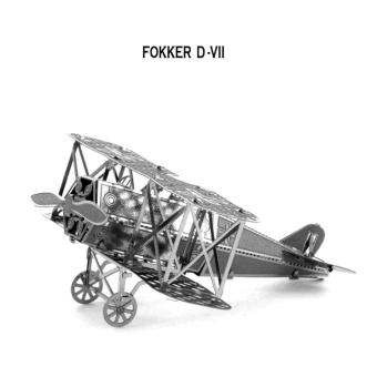Xếp hình 3D thông minh MÁY BAY CHIẾN ĐẤU FOKKER D VII ALCC(Xám)