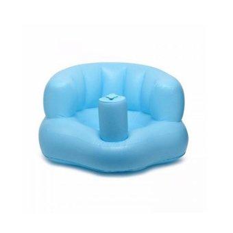 Ghế hơi tập ngồi, tập ăn bơm tay tiện dụng cho bé BenHome (Xanh)