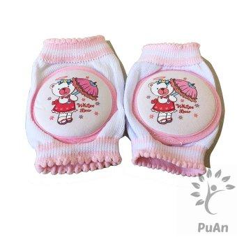 Bộ 2 miếng lót đầu gối hoặc khuỷu tay cho bé tập Bò Đi (Hồng)