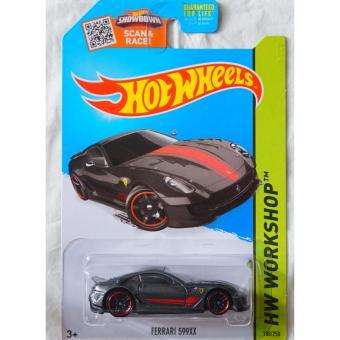 Xe mô hình tỉ lệ 1:64 Hot Wheels Ferrari 599XX Hw Workshop 188/250 - Xám
