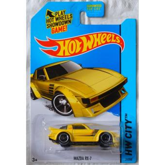 Xe ô tô mô hình tỉ lệ 1:64 Hot Wheels Hw City 21/250 Mazda RX-7 ( Vàng )