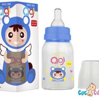 Bình sữa AGI Premium cổ thường 120ml(Xanh)