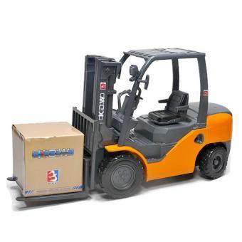 Mô Hình Sắt Tỉ Lệ 1/20 - Dài 20cm - Xe Nâng Công Trình Forklift - Kdw(Vàng)