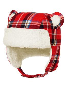 Mua Nón bông lót nỉ che tai Gymboree Plaid Bear Trapper (Đỏ) giá tốt nhất