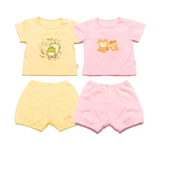 Bộ 2 quần áo bé gái Lullaby (Hồng vàng)