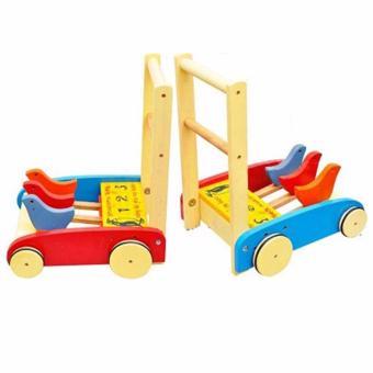 Xe gỗ con gà tập đi cốc cốc cho bé
