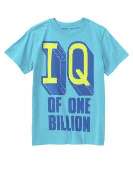 Áo phông cộc tay Crazy8 IQ of One Billion (Xanh)