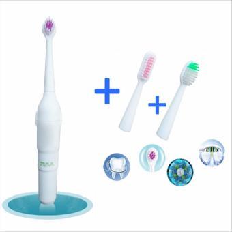 Máy đánh răng bằng điện với 3 đầu bàn chải (chạy pin tiểu)