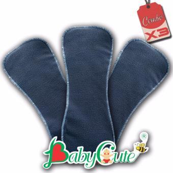 Bộ 3 miếng lót tã vải đêm BabyCute size M (8-16kg)