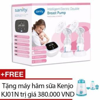 Máy hút sữa Sanity điện đôi AP5316 + Tặng máy hâm sữa Kenjo KJ01N