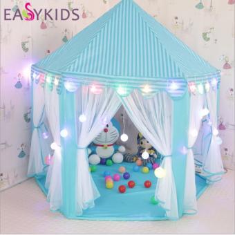 Lều Màn Hoàng Tử - Công chúa cao cấp cho bé (màu xanh)