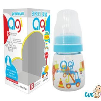 Bình sữa AGI Premium cổ thường 60ml(Xanh)