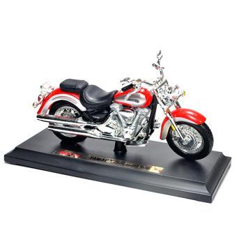 Mô Hình Tỉ Lệ 1/18 Xe Yamaha Roadstar Maisto (Đỏ)