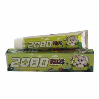 Kem đánh răng trẻ em giàu vitamin và canxi ngăn ngừa sâu răng 2080 KIDS Hàn Quốc 80g (Hương Táo) - Hàng Chính Hãng