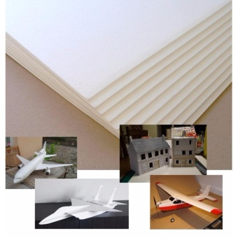 Combo 20 tấm xốp depron foam 2.5mm (khổ 0.5m x 1m) chuyên dụng làm mô hình máy bay điều khiển từ xa, tàu, xe, nhà cửa, trang trí (Trắng)