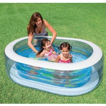 Bể bơi phao cá heo cở lớn (163x107x46cm) + tăng bơm điện