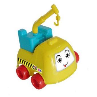 Bộ 4 Ô tô nhí - Xe cứu hỏa, xe bồn, xe cẩu, xe trộn
