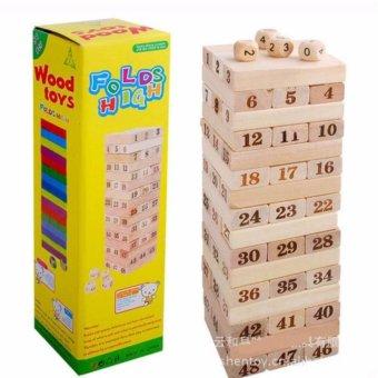 Bộ trò chơi thông minh rút gỗ WOOD TOYS loại lớn (Kem)