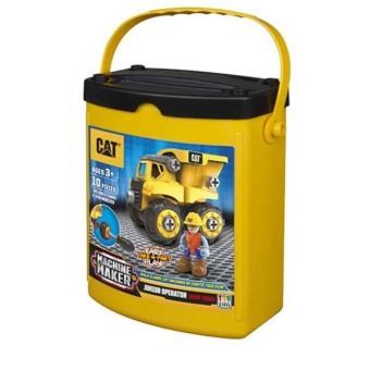 Bộ đồ chơi lắp ráp Xe ben và công nhân CAT 80901