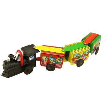 Retro Clockwork Tain Toys for Kids Developmental Cartoon Moving Train