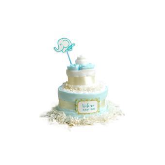 Set quà tặng khăn Nappi Newborn màu xanh
