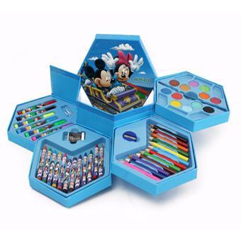 Hộp bút chì màu 46 món 4 tầng xoay