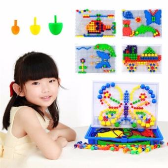 Bộ đồ chơi trẻ em 296 hạt nhựa nấm xếp hình