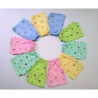Sét 10 quần cộc hoa chất cotton cực mát