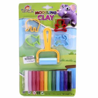 Bộ 2 đồ chơi đất sét nặn hình 12 màu có khuôn Smile Kids 150g