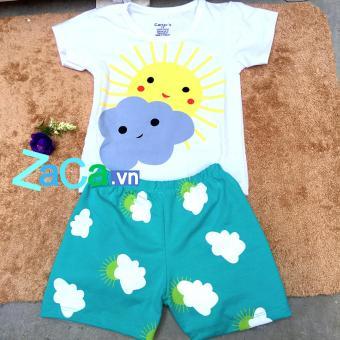Bộ quần áo cho trẻ 100 % cotton Size 1 (4-7kg) hàng Việt Nam (ngẫu nhiên nếu hết mẫu)