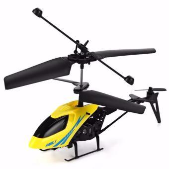 Máy bay trực thăng mini điều khiển từ xa Heli- (Vàng - Đỏ)
