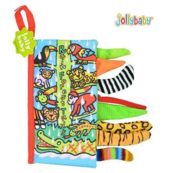 Sách vải Jollybaby Rain Forest Tails cho bé chơi mà học