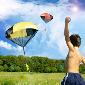 Outdoor Sports Hand Throwing Mini Parachute Educational Toy Random Color Quantity 1 for Children Babies Kids - intl